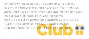 Jaquette romans Club 2015.