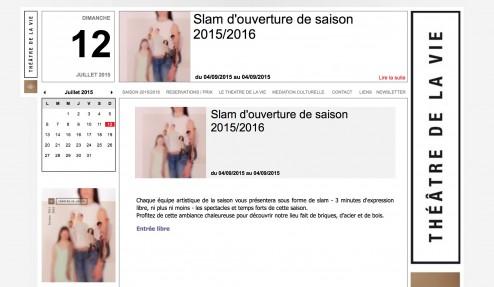 théatre website